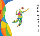 summer games abstract colorful... | Shutterstock .eps vector #561296266