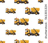 seamless pattern with garbage...   Shutterstock .eps vector #561301324