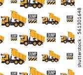 seamless pattern with dumper...   Shutterstock .eps vector #561301648