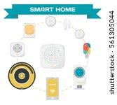 set of equipment for the smart... | Shutterstock .eps vector #561305044