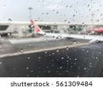 view from window airplane with... | Shutterstock . vector #561309484