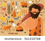 stone age concept background.... | Shutterstock .eps vector #561310768