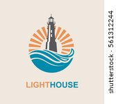lighthouse icon design with... | Shutterstock .eps vector #561312244