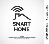 smart home icon. emblem sign wi ...   Shutterstock .eps vector #561312253