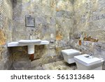 bathroom with a beautiful...   Shutterstock . vector #561313684