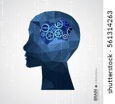 creative brain concept... | Shutterstock .eps vector #561314263