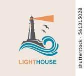 lighthouse icon design with... | Shutterstock .eps vector #561315028