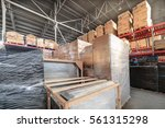 warehouse transport and... | Shutterstock . vector #561315298