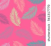 summer exotic floral tropical... | Shutterstock .eps vector #561317770