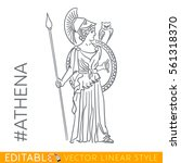 athena. goddess of reason ... | Shutterstock .eps vector #561318370