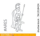 ares. god of war  bloodshed ... | Shutterstock .eps vector #561318424