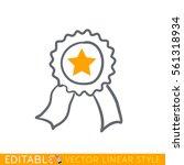 star ribbon award. editable...   Shutterstock .eps vector #561318934