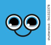 funny eyes with glasses on a...   Shutterstock .eps vector #561322378