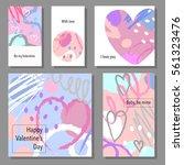 valentine s day creative... | Shutterstock .eps vector #561323476