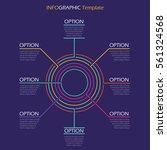 infographic template. neon... | Shutterstock .eps vector #561324568