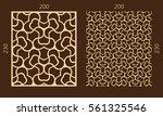 laser cutting set. woodcut... | Shutterstock .eps vector #561325546