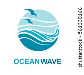 abstract design of ocean logo... | Shutterstock .eps vector #561330166