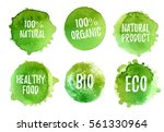 vector natural  organic food ... | Shutterstock .eps vector #561330964