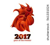 fire rooster  red cock  ... | Shutterstock .eps vector #561331024