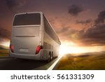bus driving on a road in the... | Shutterstock . vector #561331309