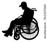 silhouette of disabled people... | Shutterstock .eps vector #561337060