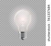 light bulb. realistic style... | Shutterstock .eps vector #561337684