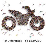 large and diverse group of... | Shutterstock . vector #561339280