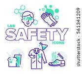 a fun set of 5 laboratory...   Shutterstock .eps vector #561341209