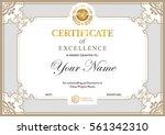 certificate vector luxury... | Shutterstock .eps vector #561342310