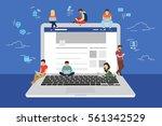 social network web site surfing ... | Shutterstock .eps vector #561342529