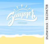 vector illustration  summer... | Shutterstock .eps vector #561346708
