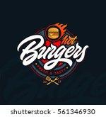 hot burgers vector logo ... | Shutterstock .eps vector #561346930