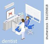 isometric flat interior of... | Shutterstock .eps vector #561350818