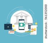 e commerce and m commerce flat... | Shutterstock .eps vector #561352000