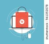 e commerce and m commerce flat... | Shutterstock .eps vector #561352078