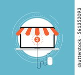 e commerce and m commerce flat...   Shutterstock .eps vector #561352093