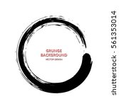 hand drawn grunge circle shape. ... | Shutterstock .eps vector #561353014
