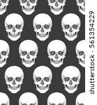 human skull tribal style... | Shutterstock .eps vector #561354229