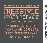 font freestyle. craft retro... | Shutterstock .eps vector #561357238