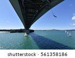 bungy jump at harbour bridge ... | Shutterstock . vector #561358186