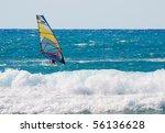 a wind surfer on the ocean | Shutterstock . vector #56136628