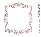 alligraphic frames .vintage...   Shutterstock .eps vector #561366850