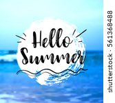 sea background with lettering... | Shutterstock .eps vector #561368488