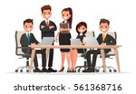 meeting business people.... | Shutterstock .eps vector #561368716