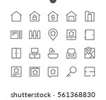 real estate outlined pixel...