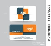 modern business card design... | Shutterstock .eps vector #561370273
