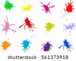 vector blots background. | Shutterstock .eps vector #561373918