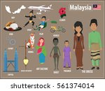vector illustration set of... | Shutterstock .eps vector #561374014