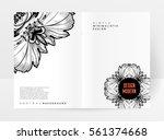 vintage ornament card vector... | Shutterstock .eps vector #561374668