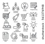 business management icons in... | Shutterstock .eps vector #561376948